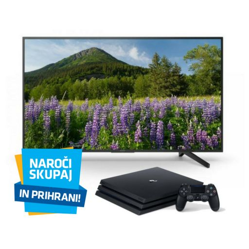 TV sprejemnik Sony KD55XF7005BAEP 4K UHD HDR smart + Playstation PS4 konzola 1TB PRO