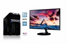 RAČUNALNIK PCX EXAM GAMING 1.2 (i3-7100/8GB/SSD120 GB+1TB/NV1050I 2GB) in MONITOR SAMSUNG 23,5